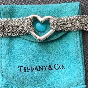 Tiffany & Co Open Heart Mesh Bracelet
